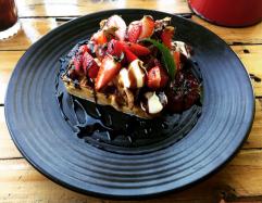 Balsamic Strawberry Waffles