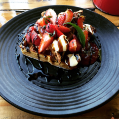 Balsamic Strawberry Waffles